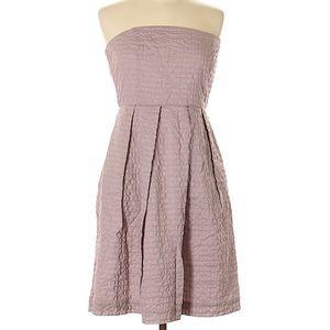 J. Crew Light Purple Strapless Dress with Pockets